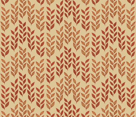 Minoan grasses on beige fabric by su_g on Spoonflower - custom fabric