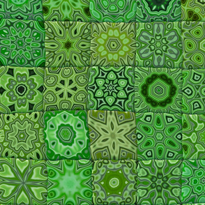 Quilt - Floral - Green
