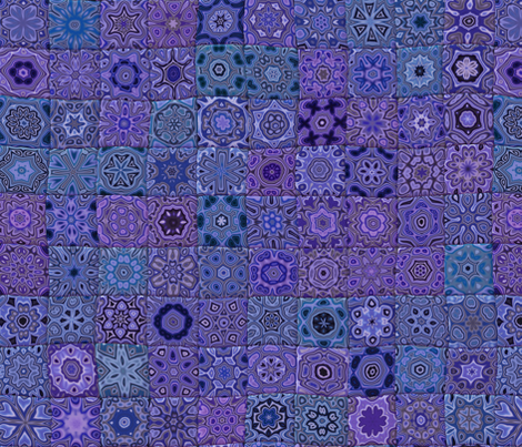 Quilt - Floral - Purple fabric by bonnie_phantasm on Spoonflower - custom fabric