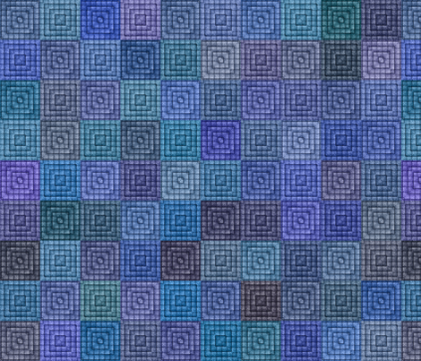 Quilt - Square - Blue fabric by bonnie_phantasm on Spoonflower - custom fabric