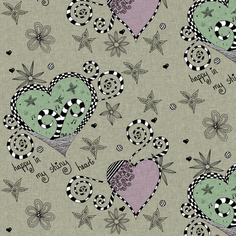 Happy Shiny  fabric by glanoramay on Spoonflower - custom fabric
