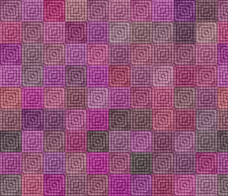 Quilt - Square - Pink fabric by bonnie_phantasm on Spoonflower - custom fabric