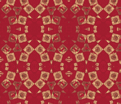 Geranium Reds Abstract © Gingezel™ 2012 fabric by gingezel on Spoonflower - custom fabric
