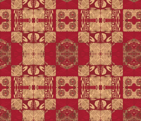 Geranium Red Blocks © Gingezel™ 2012 fabric by gingezel on Spoonflower - custom fabric