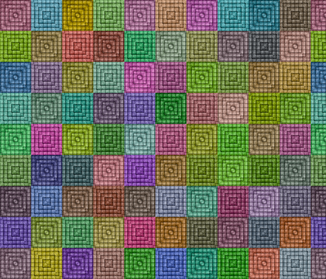 Quilt - Square - Rainbow fabric by bonnie_phantasm on Spoonflower - custom fabric
