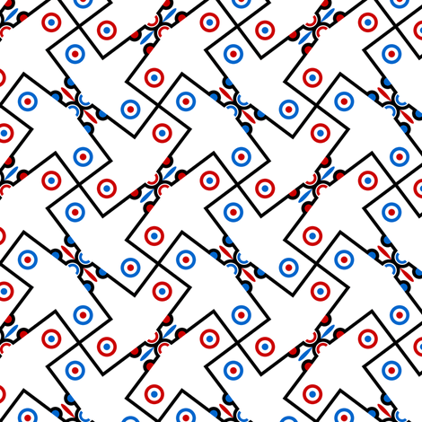 mod plane 4g in 2 fabric by sef on Spoonflower - custom fabric