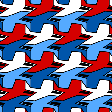 glider 2a in 4 fabric by sef on Spoonflower - custom fabric