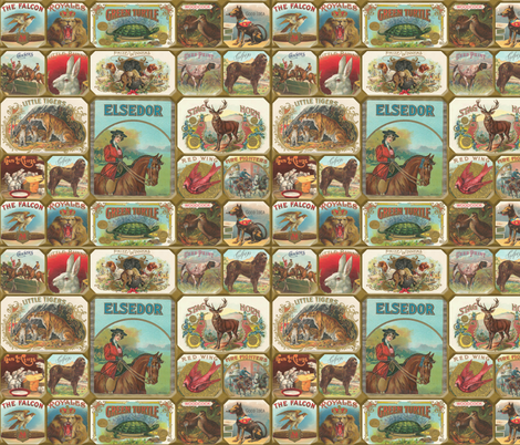 Cigar Art fabric by angelwolf on Spoonflower - custom fabric