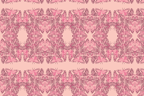 Butterflies Pink 2 fabric by roly_poly_bat_faced_girl on Spoonflower - custom fabric