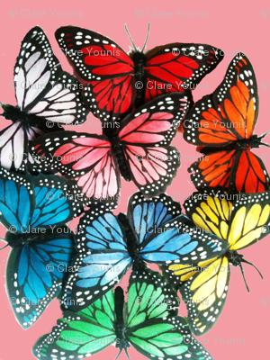 butterflies at night pink 2