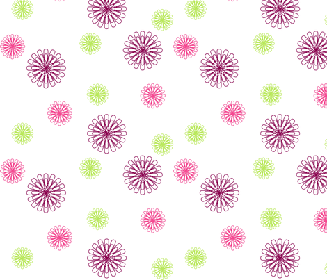 Pretty Paperclip Flowers  fabric by smuk on Spoonflower - custom fabric
