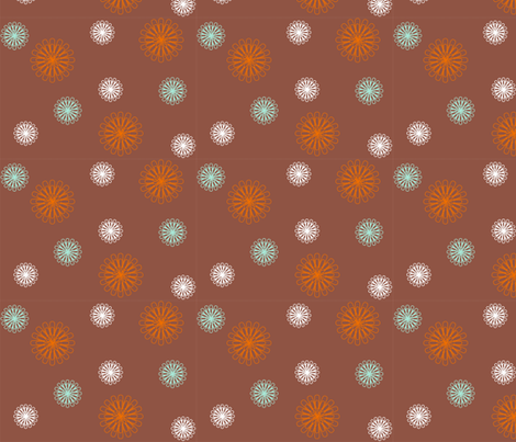 paperclips_brown_orange fabric by smuk on Spoonflower - custom fabric