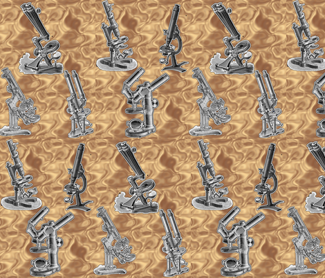 microscope brown fabric by craftyscientists on Spoonflower - custom fabric