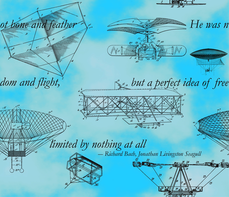 aviation_big fabric by rbnm on Spoonflower - custom fabric