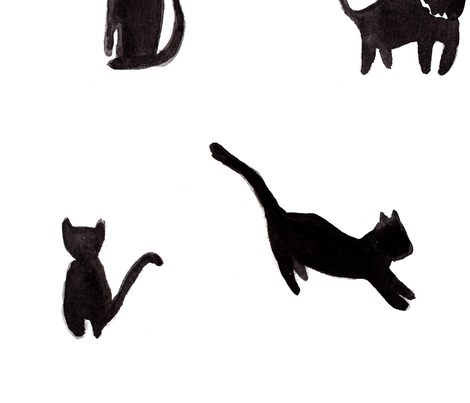 cats fabric by brittany_ferns on Spoonflower - custom fabric