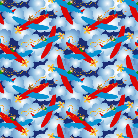 Free Flying fabric by vo_aka_virginiao on Spoonflower - custom fabric