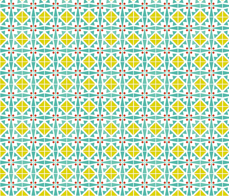 geotiles sunny fabric by atomic_bloom on Spoonflower - custom fabric