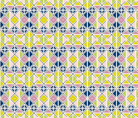 argyle spring fabric by atomic_bloom on Spoonflower - custom fabric