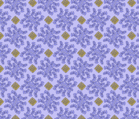 SQUIG LAVENDER fabric by glimmericks on Spoonflower - custom fabric