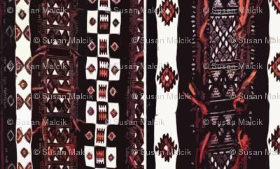 Mali Blanket - black and orange