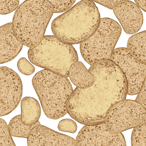 bread and butter white fabric by susiprint on Spoonflower - custom fabric