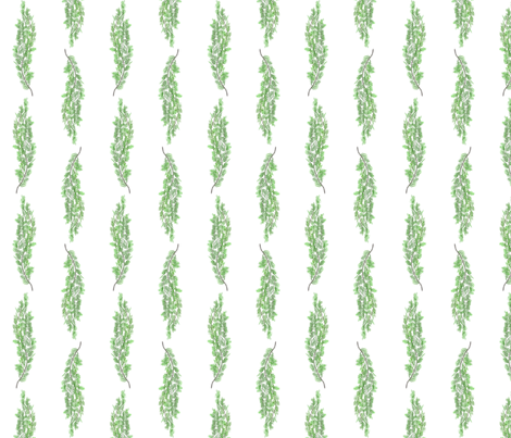 weeping birch branch fabric by glindabunny on Spoonflower - custom fabric