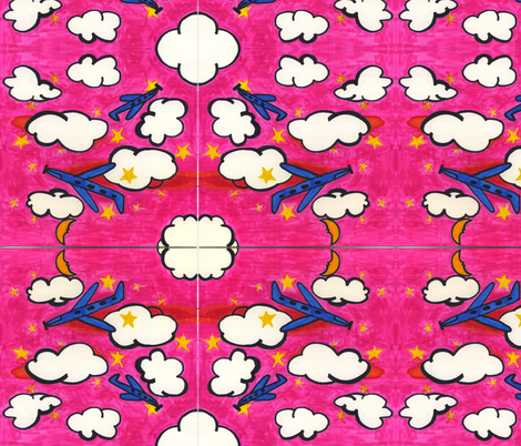 Airplane_II fabric by pink_finch on Spoonflower - custom fabric