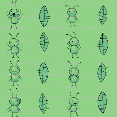 benjabug stripe on green