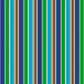 Vertical Chicklet Stripes