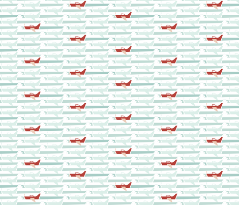 Soaring - Stripe Formation fabric by ttoz on Spoonflower - custom fabric