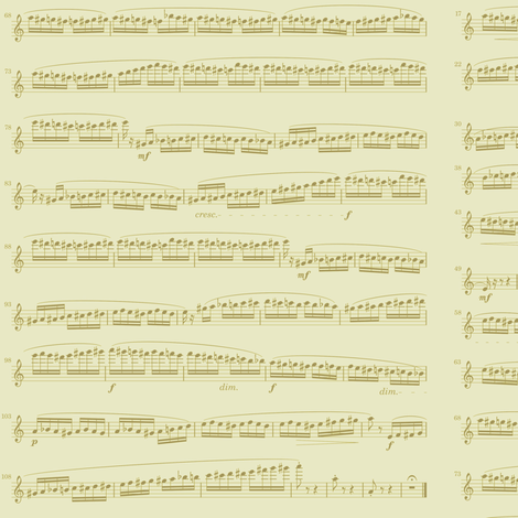 sheet music gold - flight of the bumblebee fabric by weavingmajor on Spoonflower - custom fabric