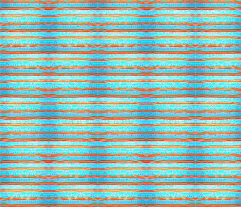 Crayon_Stripe_Pool_Lanes Horizontal fabric by pd_frasure on Spoonflower - custom fabric