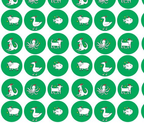 new_fabric_brooches_x_6_green fabric by lisa_littlek on Spoonflower - custom fabric