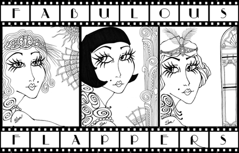 Fabulous Flappers fabric by laurijon on Spoonflower - custom fabric