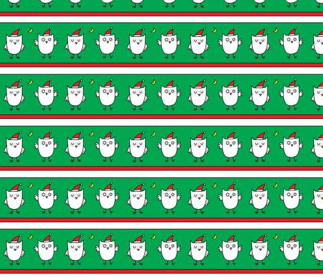 christmas_owls fabric by lisa_littlek on Spoonflower - custom fabric