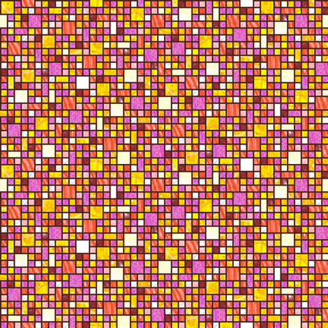 Impatiens Tiles fabric by siya on Spoonflower - custom fabric