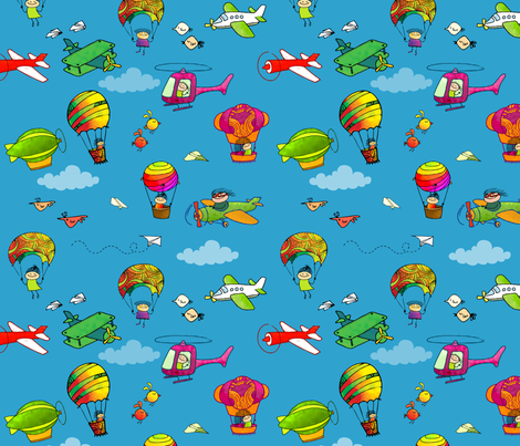 Avion fabric by padeshahoo on Spoonflower - custom fabric