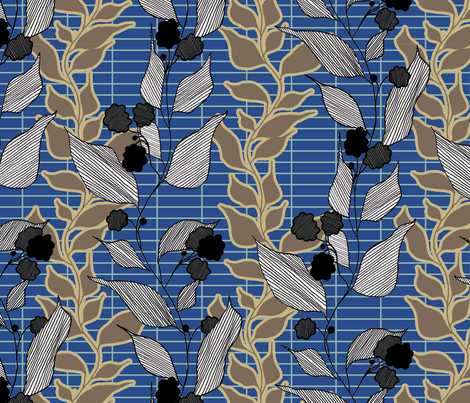 lined_leaves_3 fabric by lauradejong on Spoonflower - custom fabric