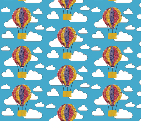 120730_aviation-balloon1 fabric by renateandtheanthouse on Spoonflower - custom fabric