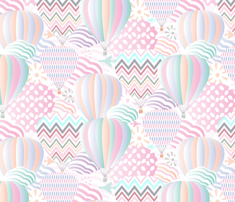 Pastel in the air fabric by demigoutte on Spoonflower - custom fabric