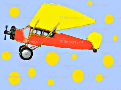 Orange and Yellow Plane