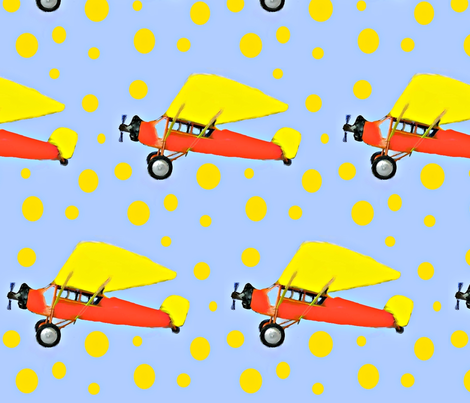 Orange and Yellow Plane  fabric by seworegon on Spoonflower - custom fabric