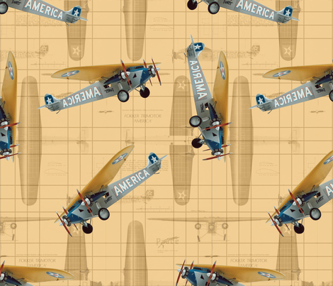 Aviation fabric by hanshpjhutting on Spoonflower - custom fabric