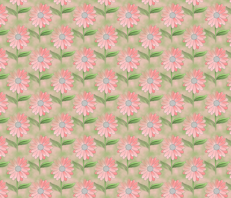 FIELD OF DAISIES fabric by anino on Spoonflower - custom fabric