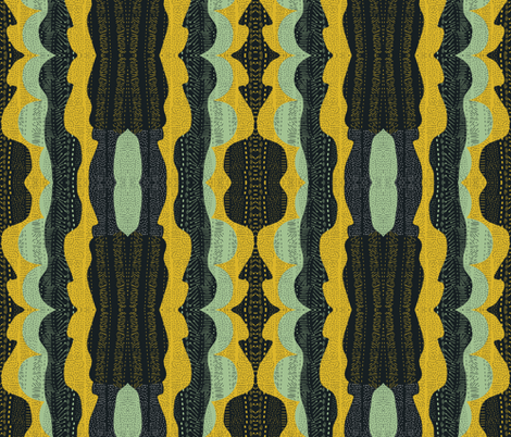 Tribal minty fabric by akwaflorell on Spoonflower - custom fabric