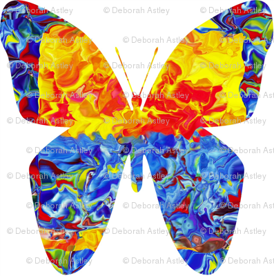Circus Butterfly in Half Drop Repeat