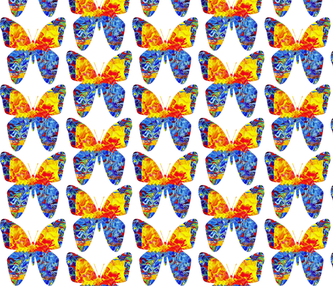 Circus Butterfly in Half Drop Repeat fabric by anniedeb on Spoonflower - custom fabric