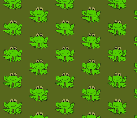 Teddy the Toad fabric by paragonstudios on Spoonflower - custom fabric