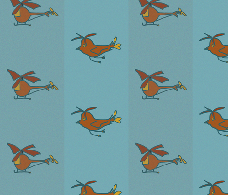 heliandbirds_brown fabric by blumenlimonade on Spoonflower - custom fabric