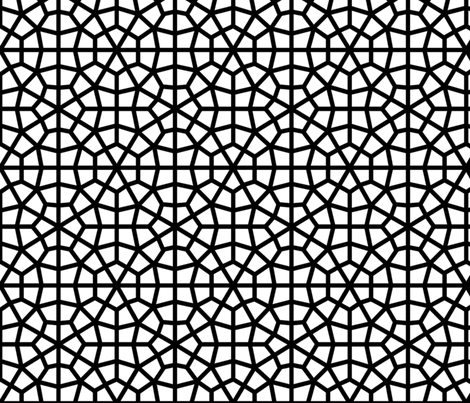 Bold Moorish Lattice fabric by kitsapien on Spoonflower - custom fabric